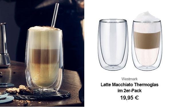 Latte Macchiato Thermoglas im 2er-Pack